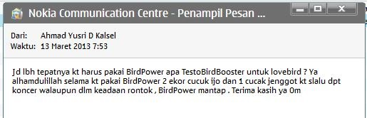 Testimoni Pengguna BirdPower