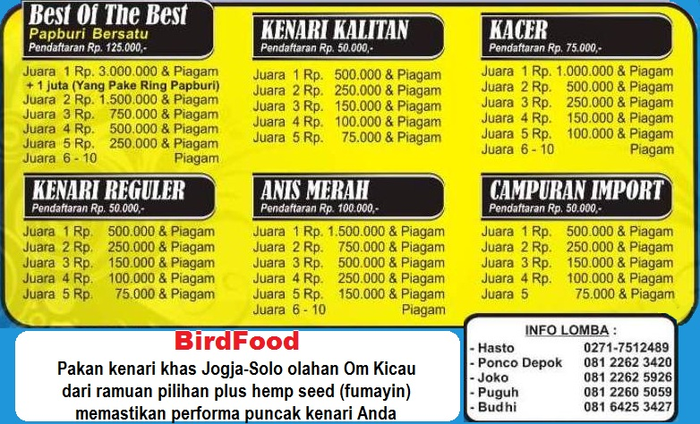 Jadwal lomba Papburi Solo