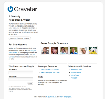 Gravatar - Globally Recognized Avatars - mini
