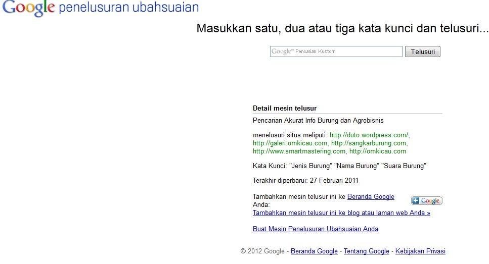 Google penelusuran ubahsuaian
