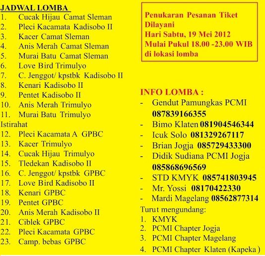 Jadwal dan Info Lomba Camat Sleman Cup 1