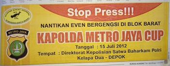 Stop Press Kapolda Cup sebelum dibatalkan