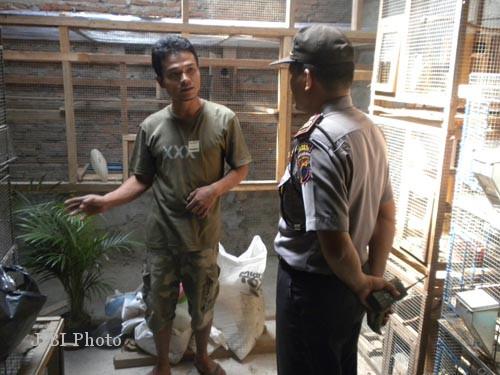 Olah TKP pencurian burung di Sukoharjo