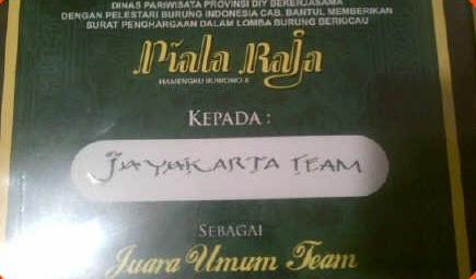 Piagam untuk Jayakarta BC