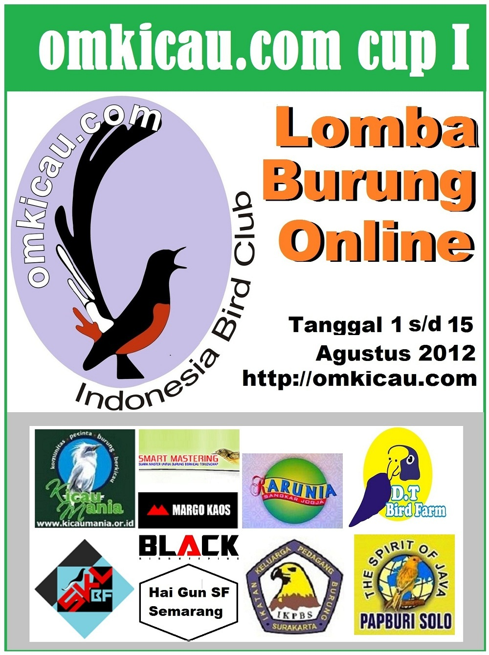 LOGO LOMBA BURUNG ONLINE OMKICAU.COM CUP I - REVISI
