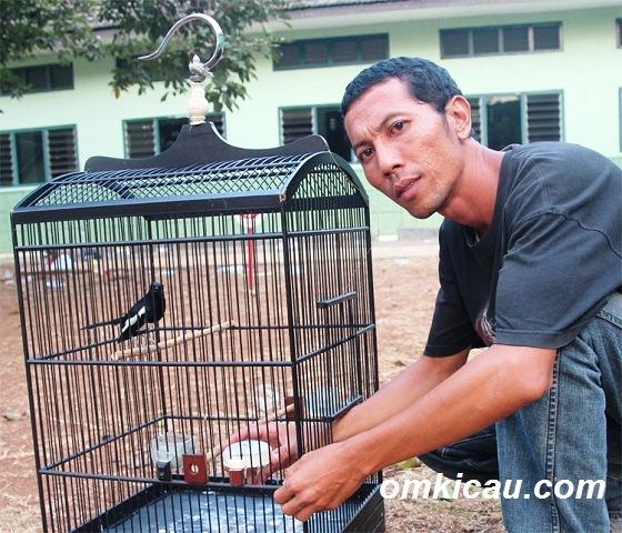 Andi merawat burung kacer Satria Dewa