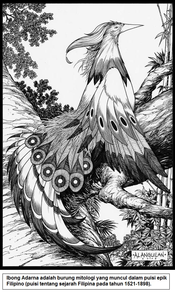 Ibong Adarna - burung mitologi yang muncul dalam puisi epik Filipina