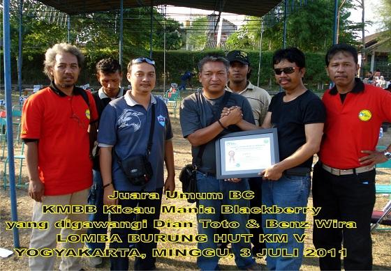 KMBB saat menjadi juara umum dalam Lomba HUT KM V di Jogja