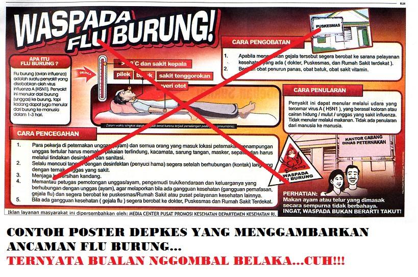 Poster-poster menakutkan sebagai hasil rekayasa para bedebah koruptor