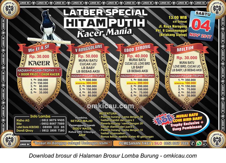 Latber Special Hitam Putih Limus BC