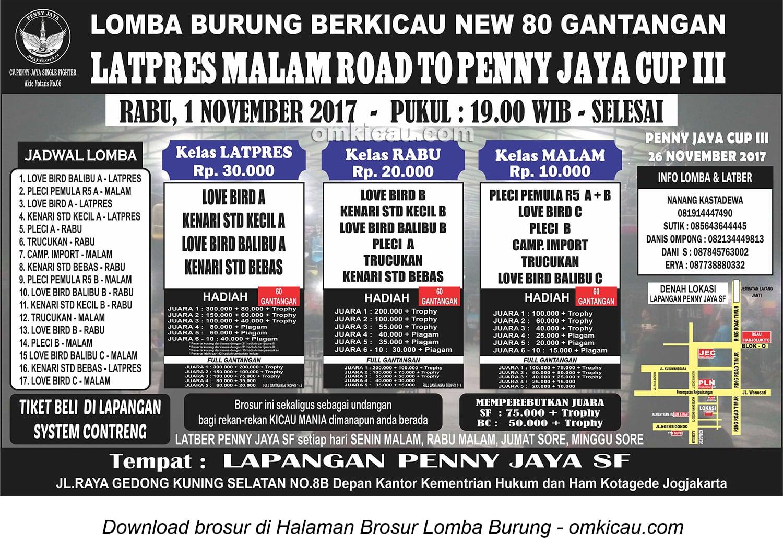 Latpres Malam Road to Penny Jaya Cup III, Jogja