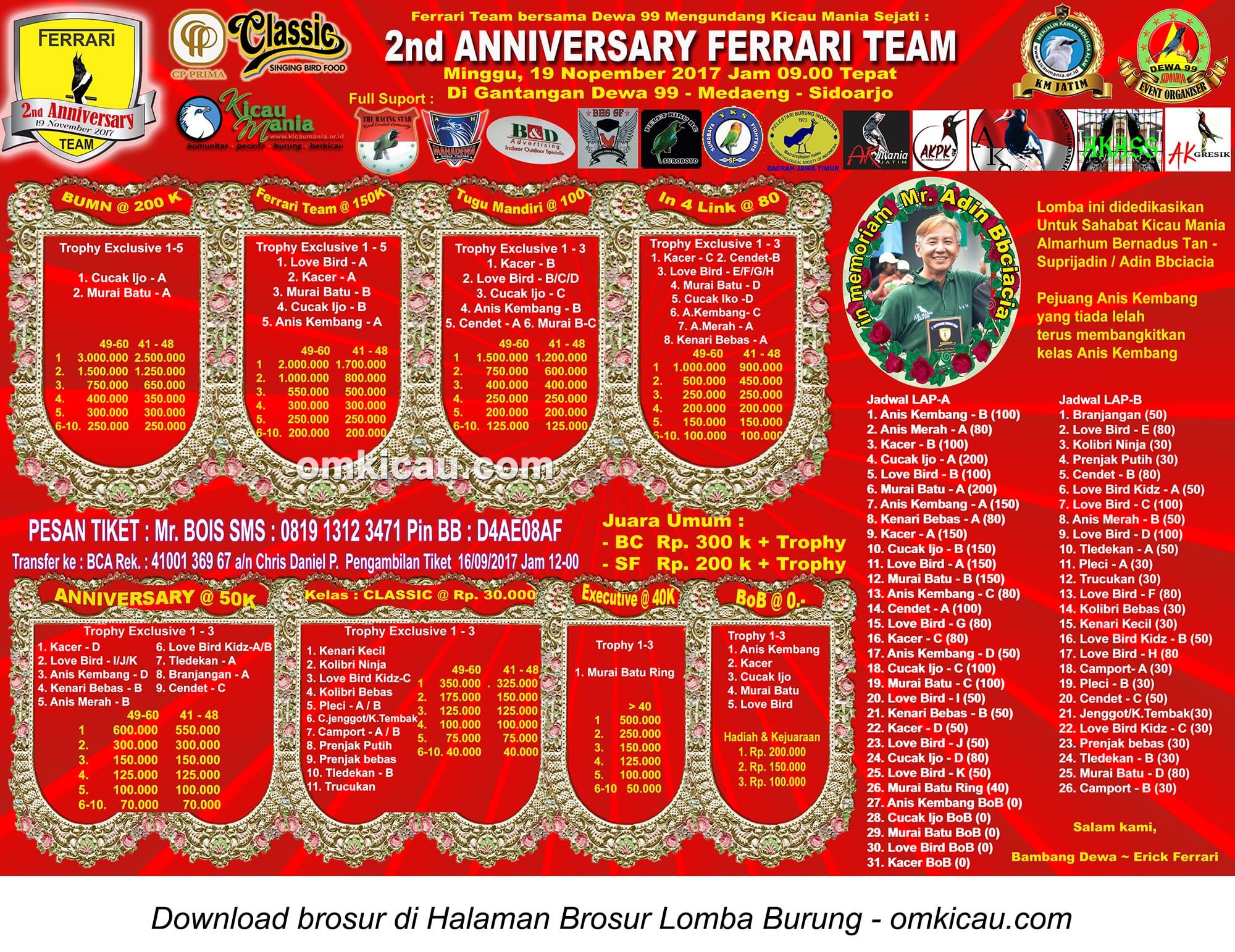 2nd Anniversary Ferrari Team