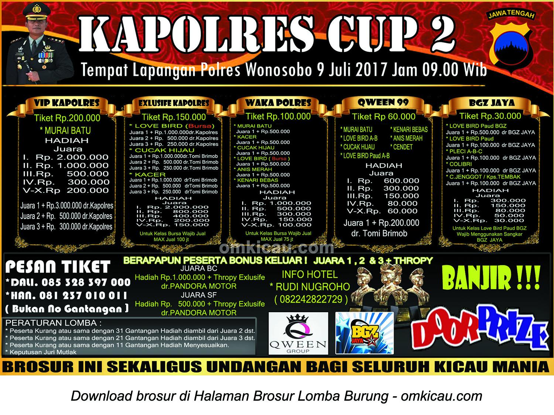 kapolres cup 2 wonosobo