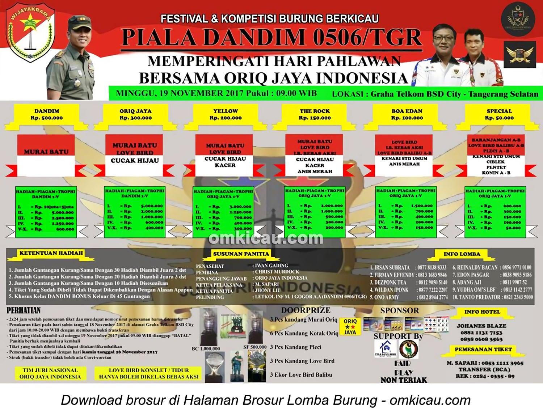 Piala Dandim 0506 Tangerang
