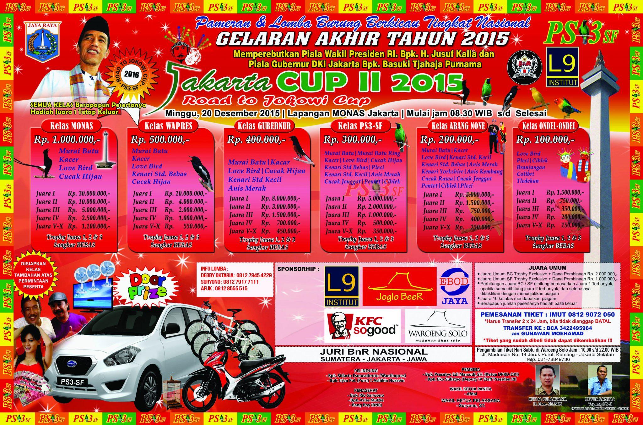 LOMBA BURUNG JAKARTA CUP II 2015 - 20 DESEMBER 2015
