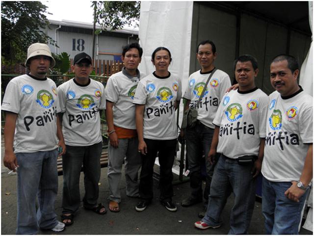 Om Hasto (kedua dari kiri) siap mengamankan Lomba DUTA KM CUP II.
