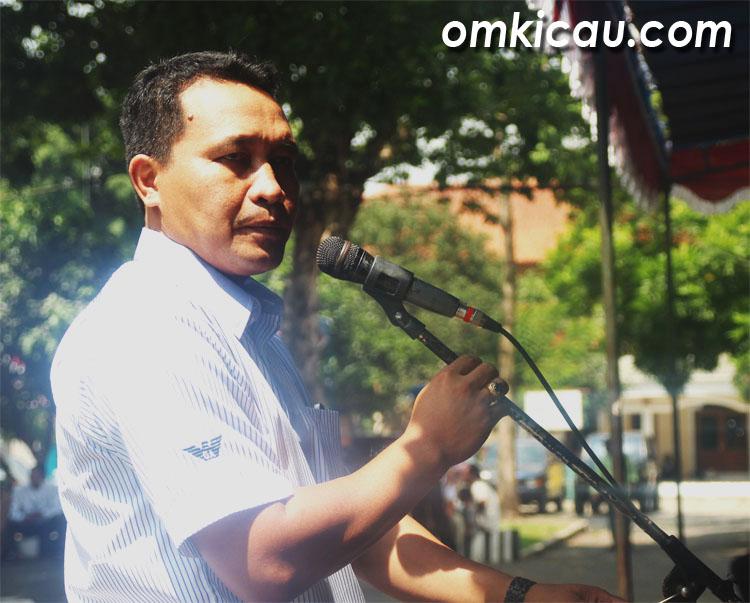 FAIR PLAY: Kapolres AKBP Dwi Tunggal Jaladri SIK SH MHum berharap lomba berjalan fair play.