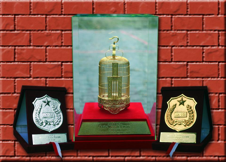 Trofi dan medali eksklusif 168 Cup