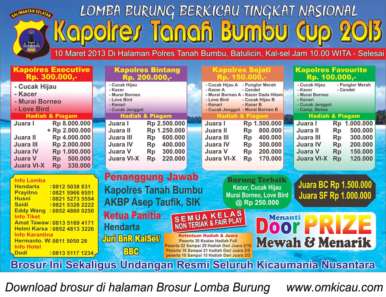 KAPOLRES TANAH BUMBU CUP 2013