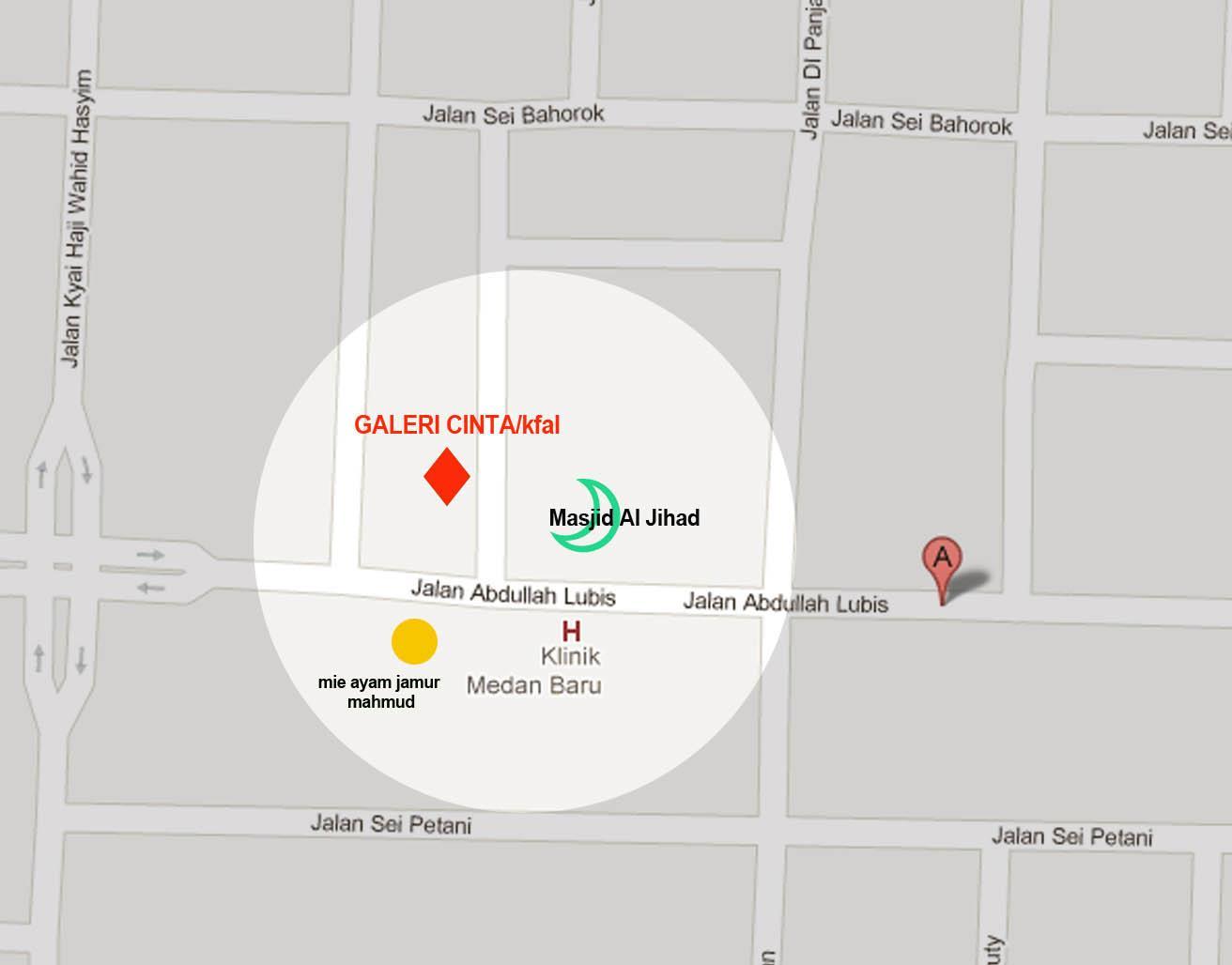Peta Lokasi Galeri Cinta