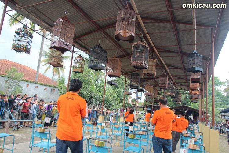 Peserta lomba Pandu Cup pada sesi ciblek cukup ramai.
