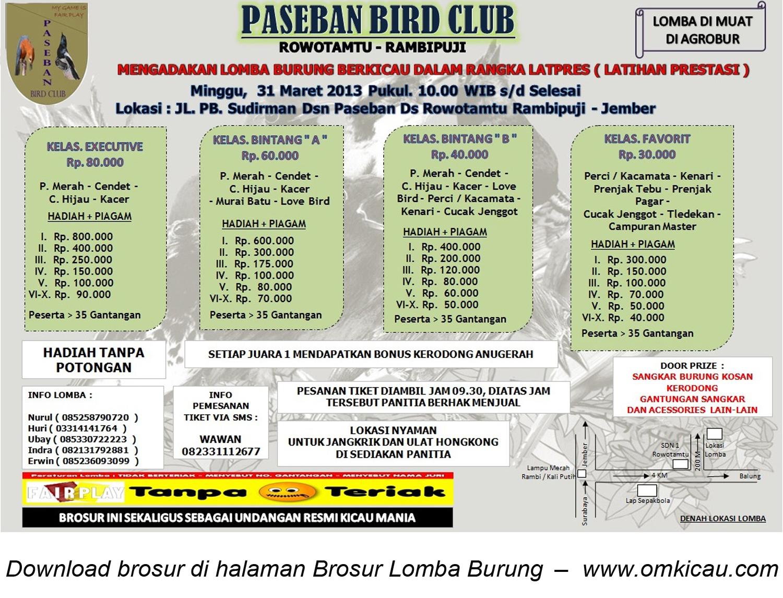 Broosur Latpres Paseban BC 31 Maret 2013