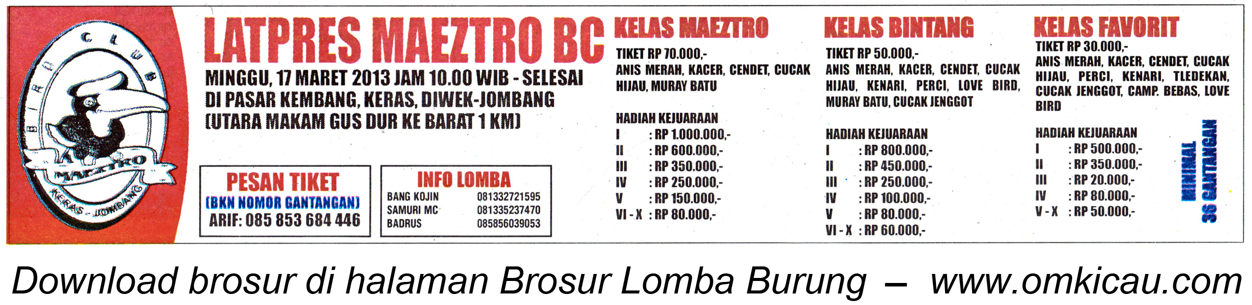 Brosur Latpres Maeztro BC