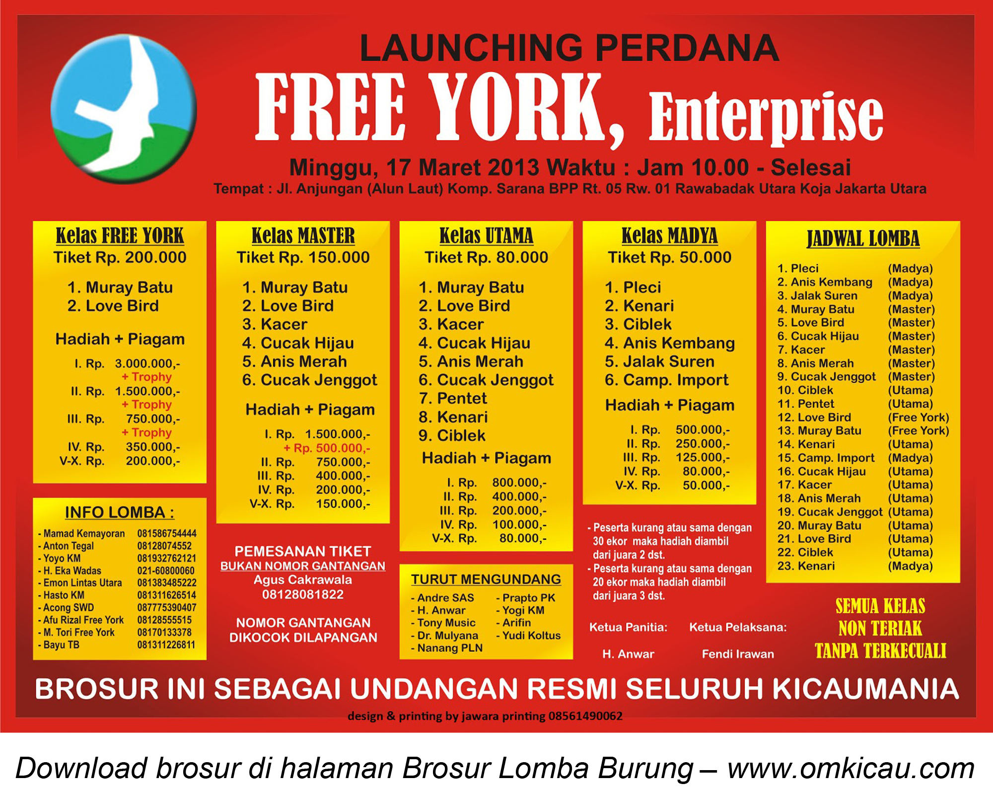 BROSUR LAUNCHING PERDANA FREE YORK