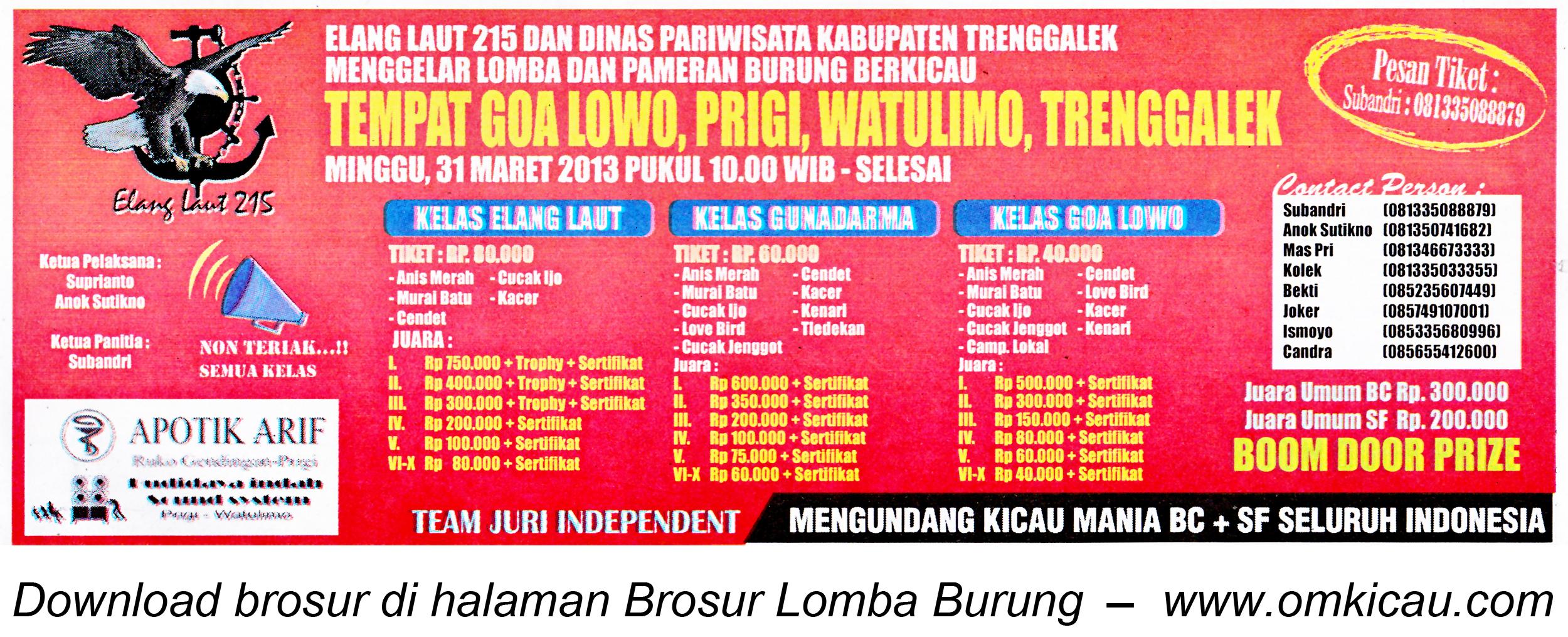 Brosur Lomba Goa Lowo Trenggalek