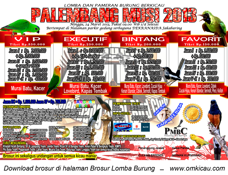 Brosur Lomba Palembang Musi 2013
