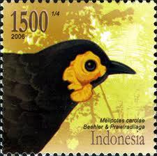 Perangko terbitan november 2006 bergambar burung wattled smoky honeyeater