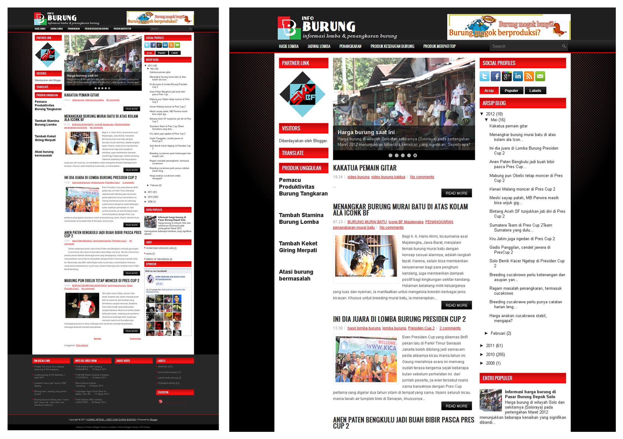 Website Info Burung (infoburung.com)