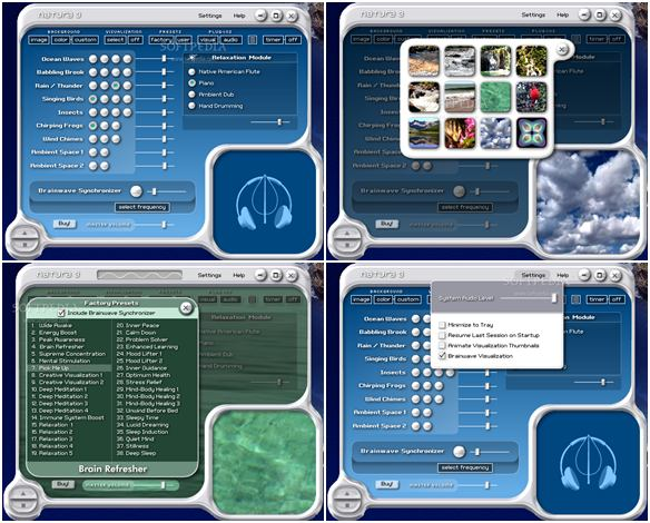 Screen shot natura sound therapy