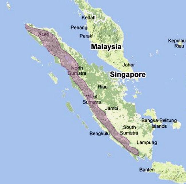 Peta wilayah persebaran cucak rente mas