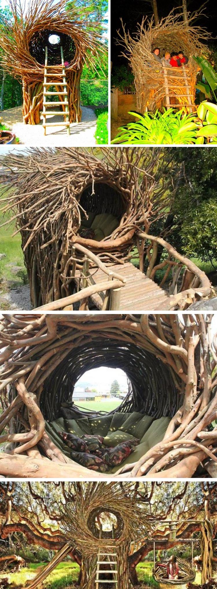 Beberapa model rumah sarang burung raksasa.