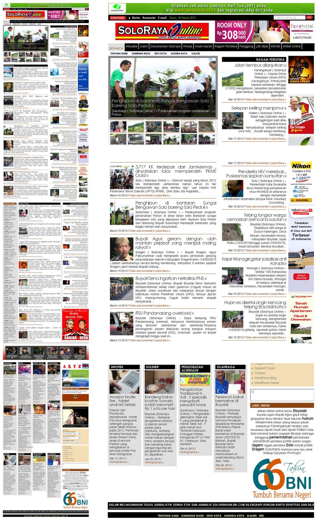 Website Solo Raya Online (solorayaonline.com)