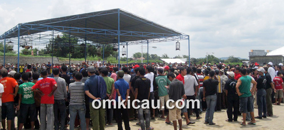 Suasana Lomba Burung Berkicau Bupati Magetan Cup, Minggu (24/3).