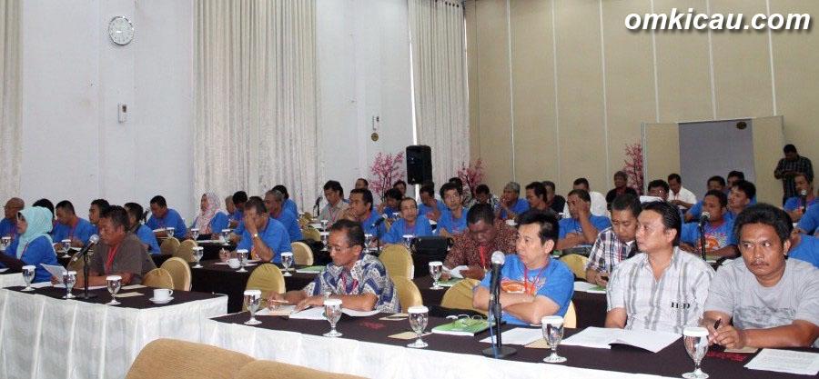 Suasana Munas dan Rakernas X PBI Pusat di Jakarta.