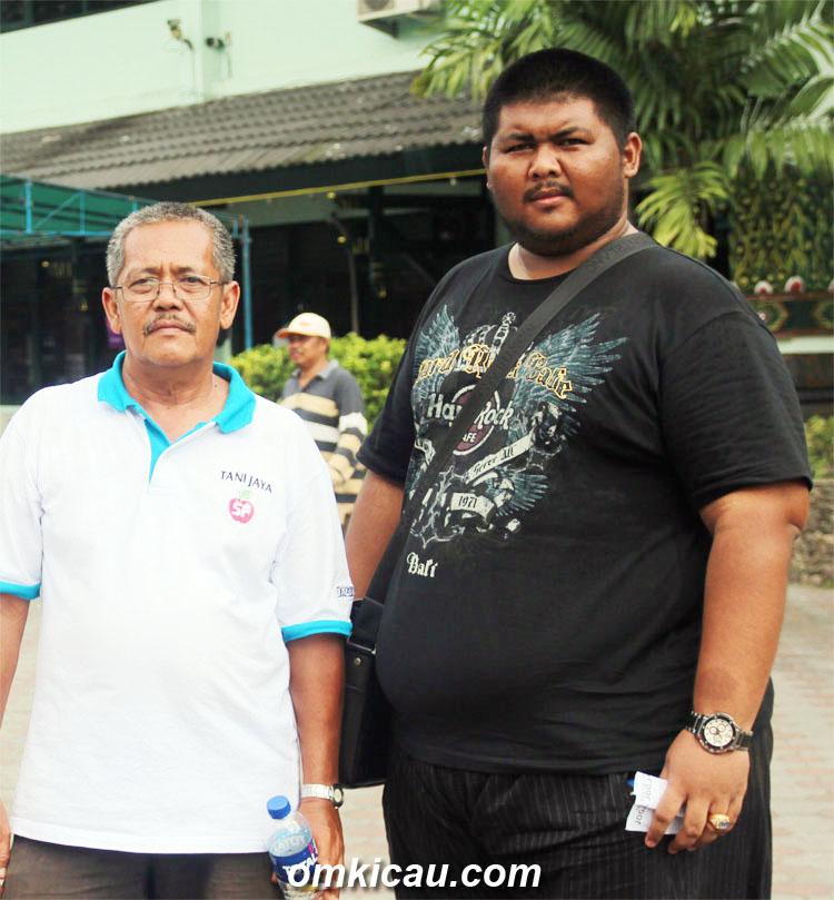 Uut Tani Jaya (kanan) didampingi Nanang Onasis.