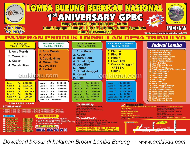 Brosur Lomba GPBS SLEMAN
