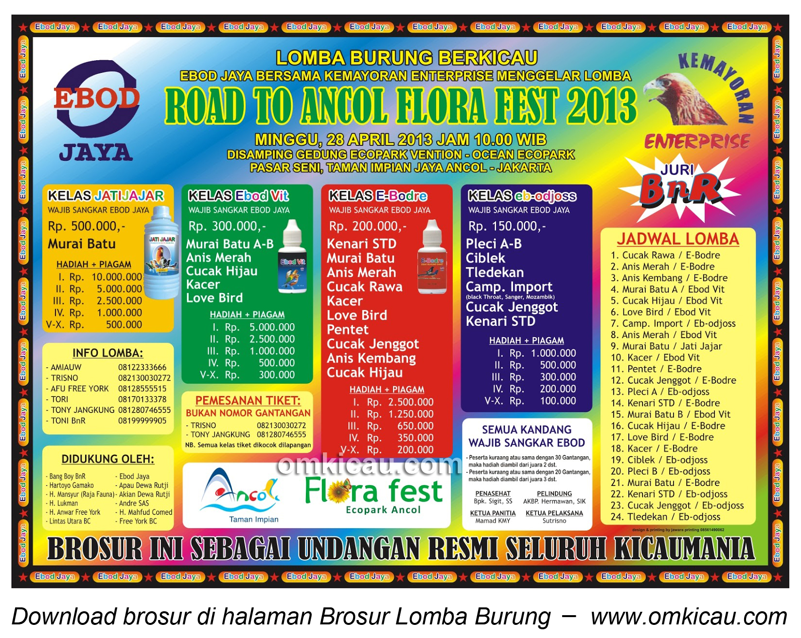 BROSUR LOMBA ROAD TO ANCOL FLORA FESTIVAL