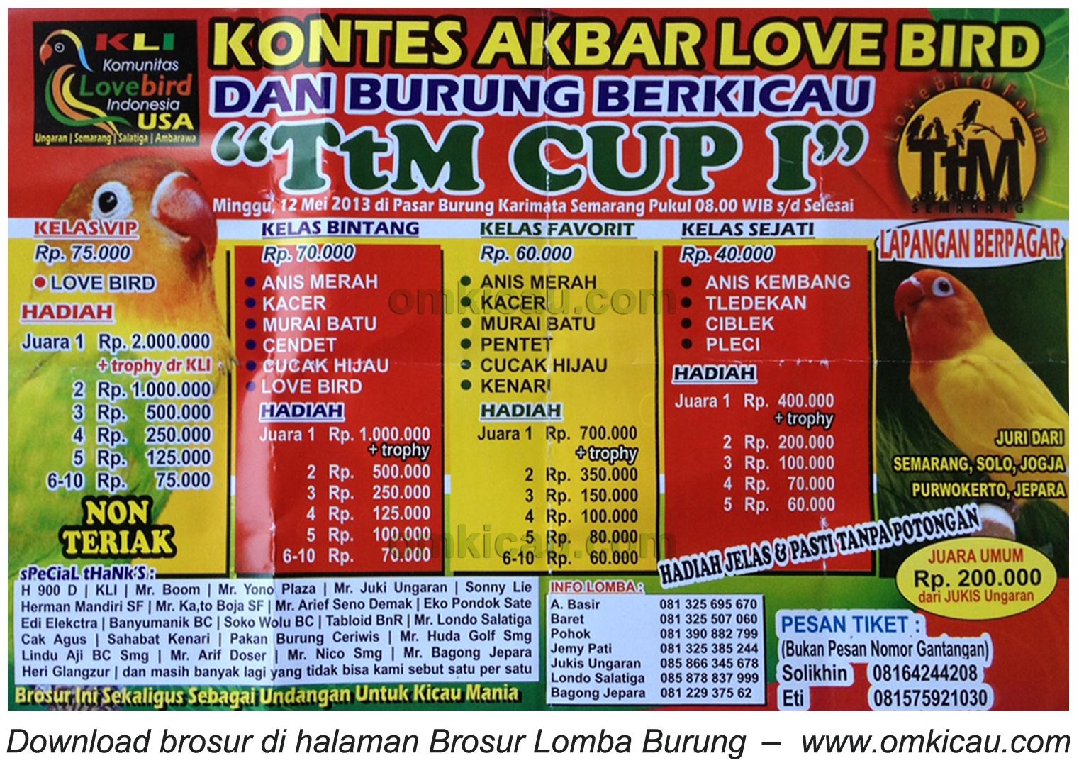 Brosur Lomba TtM Cup Semarang