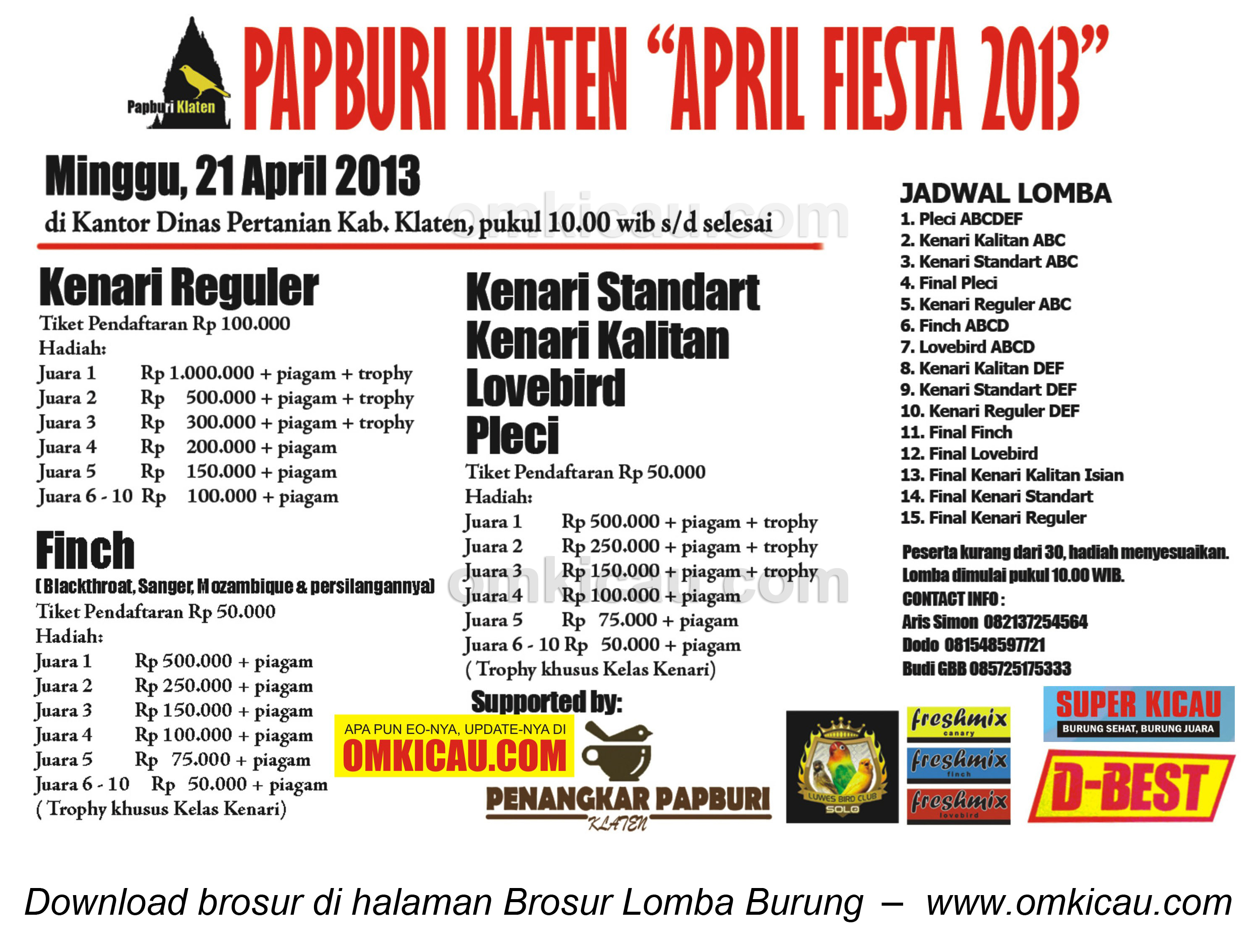 BROSUR PAPBURI KLATEN 21 APRIL