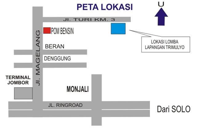 Denah Lokasi Lomba HUT Ke-1 GPBC Sleman.