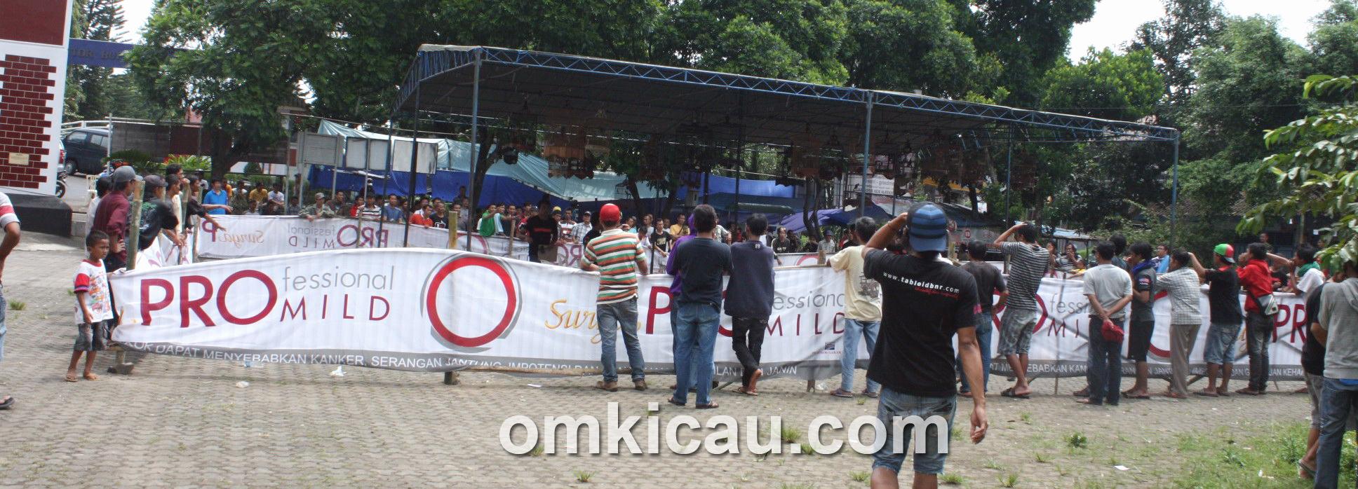 Suasana lomba perdana Bastcam Temanggung, Minggu (14/4).