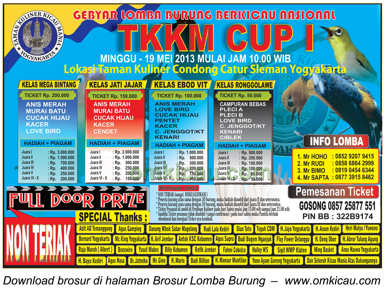 Brosur TKKM Cup I