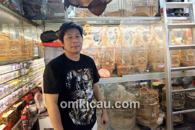 Pasar burung di China lebih bersih dan lebih tertata.