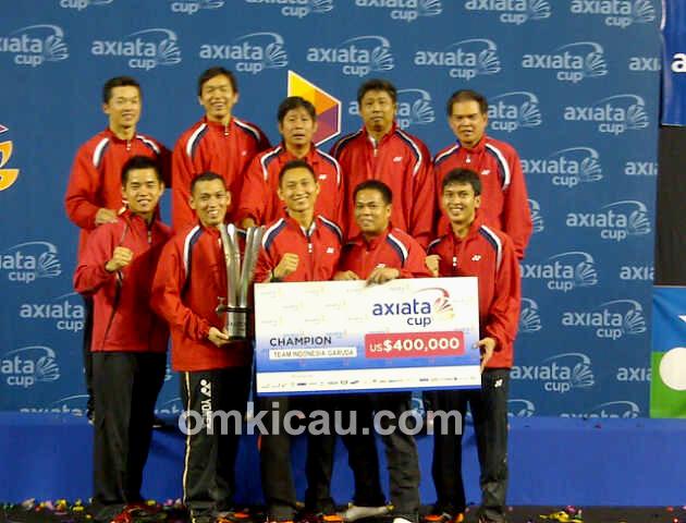 Herry IP sukses mengantar anak asuhannya menjuarai turnamen Axiata Cup