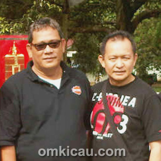Mr Yayang Pangkalanbun (kanan) bersama bos BnR, Bang Boy.