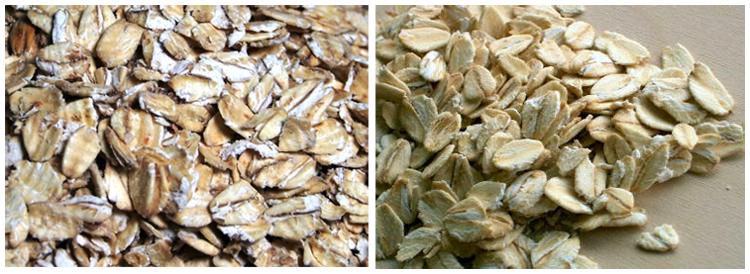 Produk olahan oat yang biasa dikonsumsi manusia.